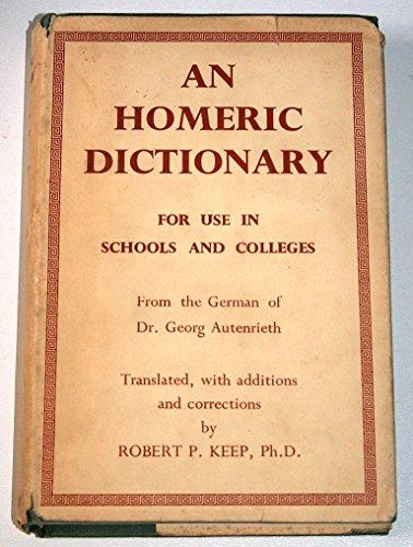 9780333045244: An Homeric Dictionary
