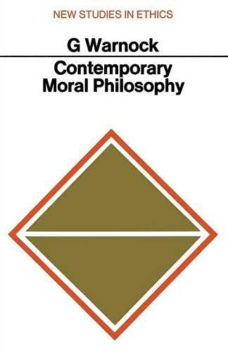 Contemporary Moral Philosophy: Warnock G J