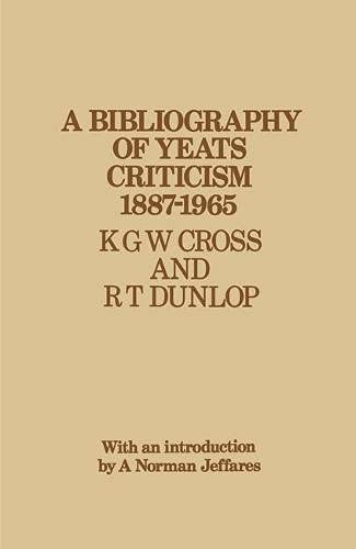 9780333050088: Bibliography of Yeats Criticism, 1887-1965