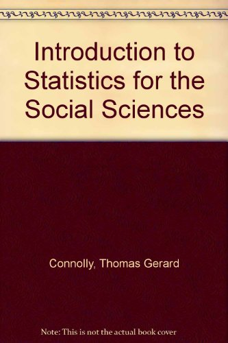 9780333050095: Introduction to Statistics for the Social Sciences