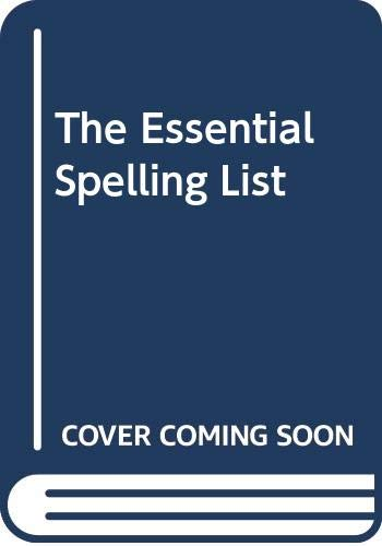 9780333054673: The Essential Spelling List