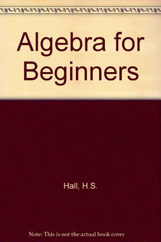 9780333056592: Algebra for Beginners
