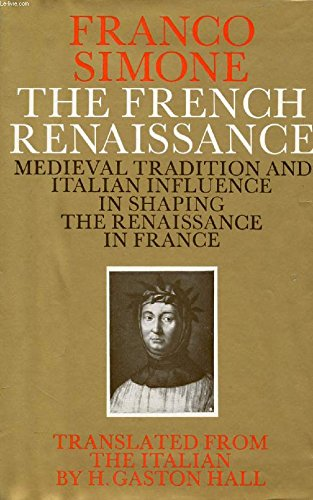 9780333061275: French Renaissance