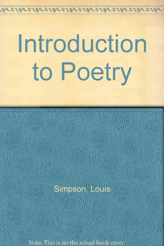 9780333070369: Introduction to Poetry