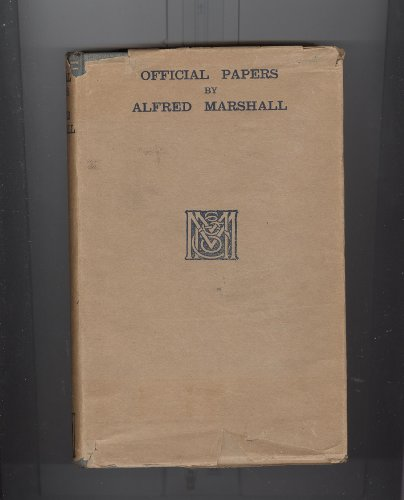 Official papers: Marshall, Alfred