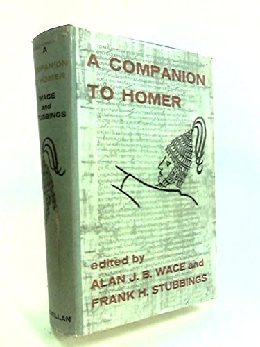 9780333071137: A Companion to Homer