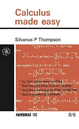 9780333074459: Calculus Made Easy (Papermacs)
