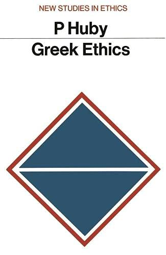 9780333077078: Greek Ethics