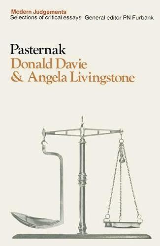 9780333082065: Pasternak (Modern Judgements)