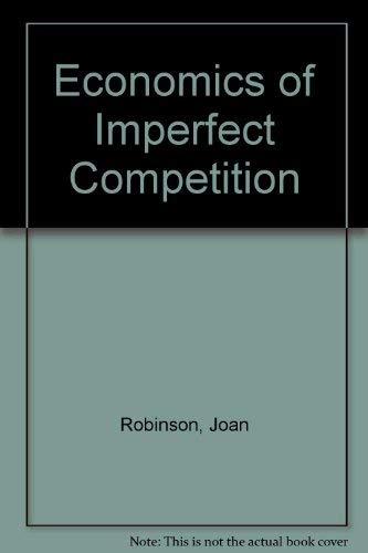 9780333083628: Economics of Imperfect Competition