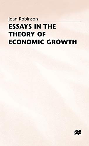 9780333095195: Essays in the Theory of Economic Growth (Joan Robinson)