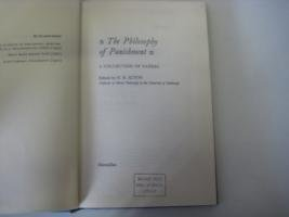 9780333096505: Philosophy of Punishment