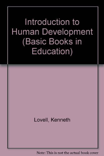 9780333100257: Introduction to Human Development (Basic Books in Education)
