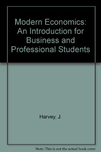 9780333100820: Modern Economics: An Introduction for Business and Professional Students