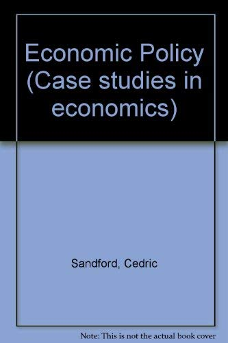 9780333102879: Economic Policy (Case studies in economics)
