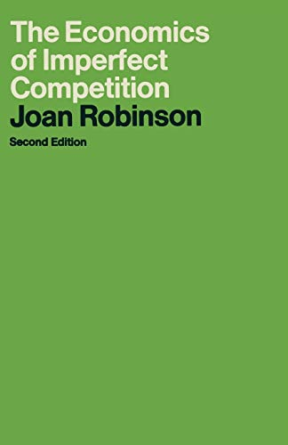 9780333102893: The Economics of Imperfect Competition (Joan Robinson)