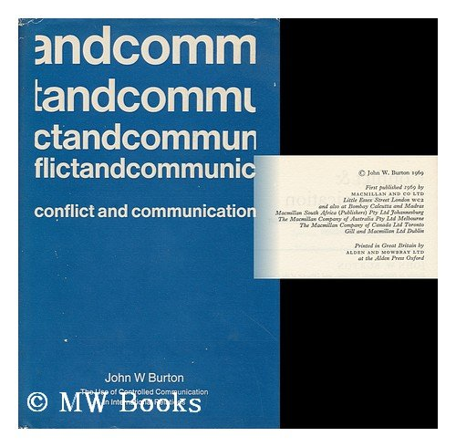 9780333103142: Conflict and Communication