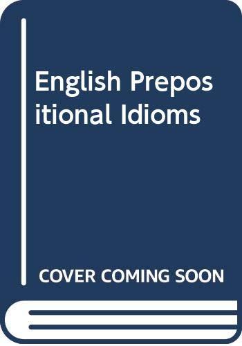 9780333103913: English Prepositional Idioms