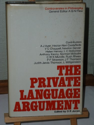 9780333105108: The Private Language Argument (Controversies in Philosophy)