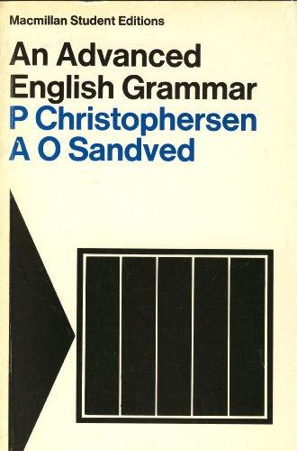 9780333106433: An Advanced English Grammar