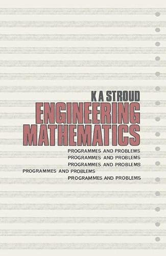 9780333109083: Engineering Mathematics: Programmes and Problems