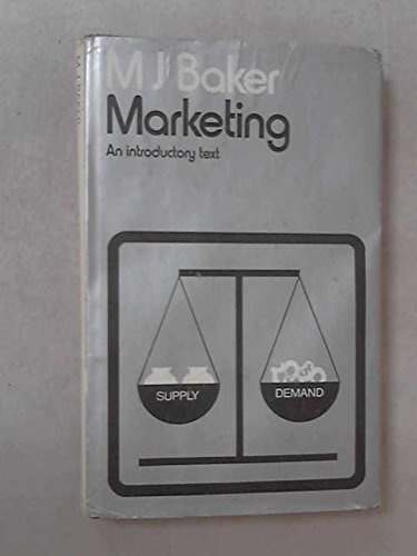 9780333109434: Marketing: An Introductory Text