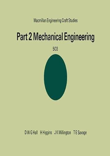 9780333111116: Mechanical Engineering (Engineering Craft Studies)