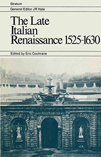 9780333111277: The Late Italian Renaissance 1525–1630 (Stratum)