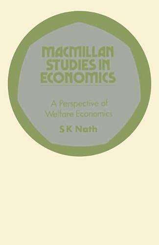 9780333118658: Perspective of Welfare Economics (Study in Economics)