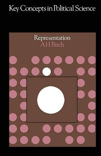 9780333118870: Representation (Key Concepts in Political Science)