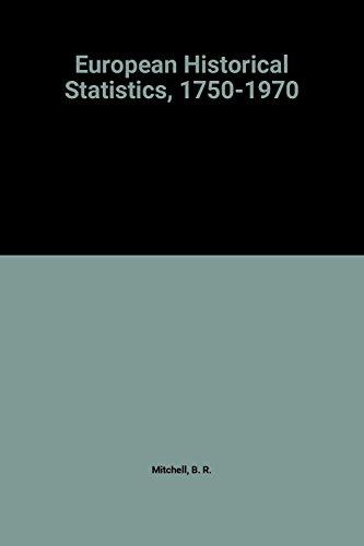 9780333120583: European Historical Statistics, 1750-1970