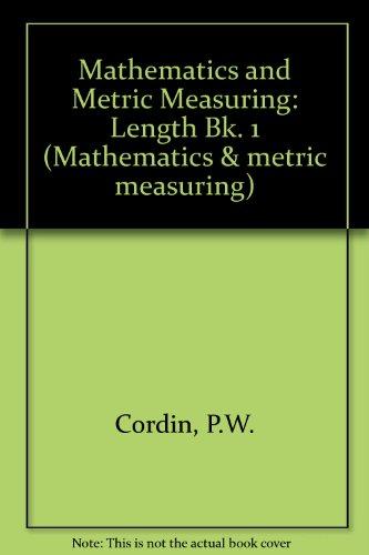 9780333124338: Mathematics and Metric Measuring: Length Bk. 1 (Mathematics & metric measuring)