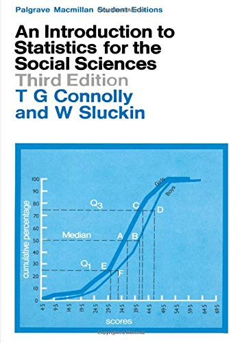 9780333126578: Introduction to Statistics for the Social Sciences (Macmillan student editions)