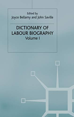 9780333131800: Dictionary of Labour Biography: Volume 1: v. 1