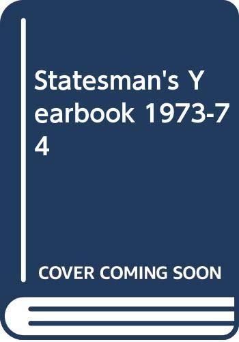 9780333132029: Statesman's Yearbook