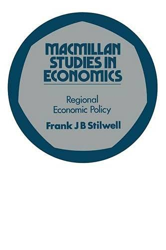 9780333132494: Regional Economic Policy (Study in Economics)