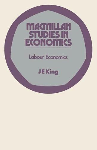9780333133439: Labour Economics (Study in Economics)