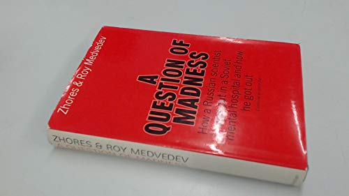 9780333133637: A question of madness
