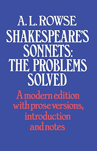 9780333147344: Shakespeare's Sonnets: The Problems Solved