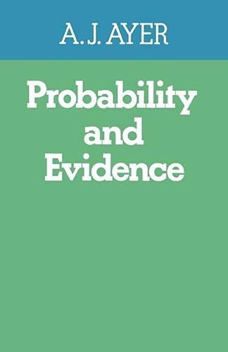 9780333148808: Probability and Evidence