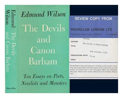 9780333152188: Devils and Canon Barham: Ten Essays on Poets, Novelists and Monsters