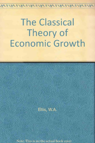 9780333159934: Classical Theory of Economic Growth