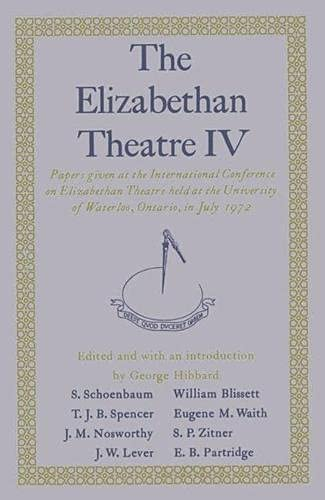 9780333171509: The Elizabethan Theatre IV