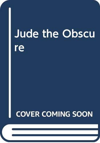 9780333179109: Jude the Obscure (Macmillan students' Hardy / Thomas Hardy)