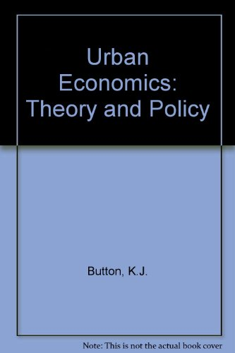 9780333185940: Urban Economics: Theory and Policy