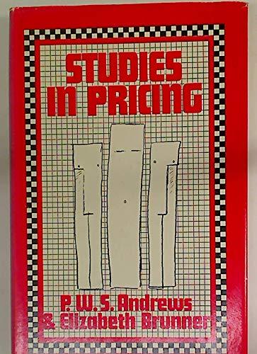 9780333187821: Studies in Pricing