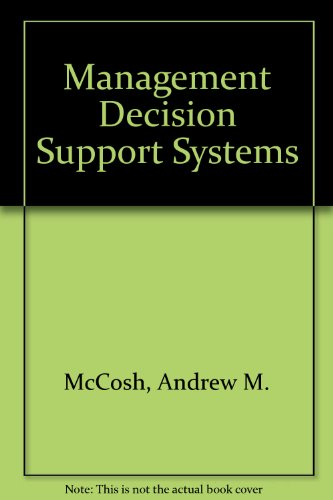 9780333190395: Management Decision Support Systems