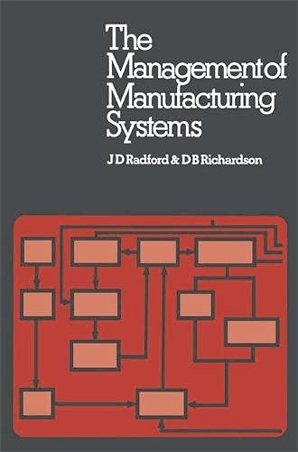 9780333195215: Management of Manufacturing Systems