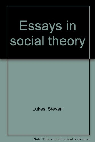 9780333196625: Essays in social theory