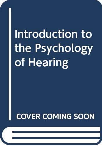 9780333197011: Introduction to the Psychology of Hearing